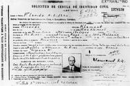 Documento que utilizó Eichmann para esconderse en Argentina en 1950 con el alias de 'Ricardo Klement'.