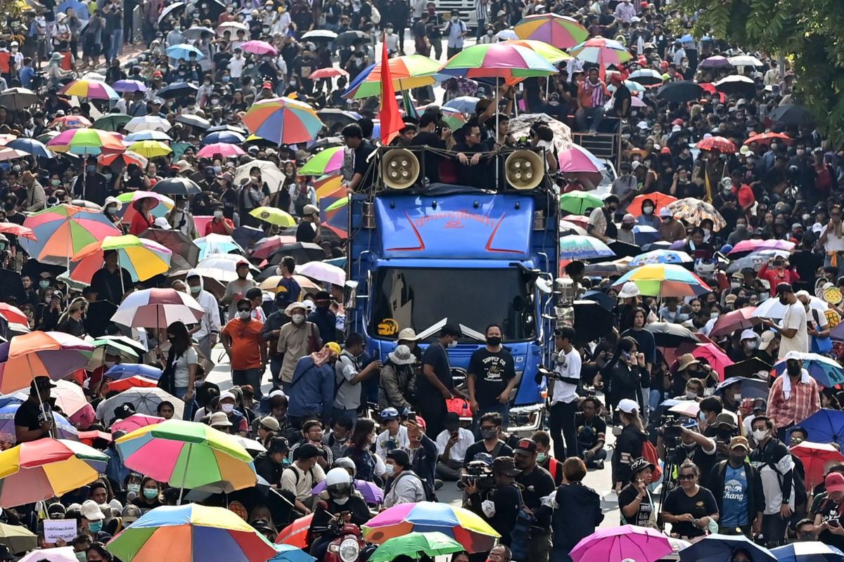Manifestantes contrarios al Gobierno tailandés, en Bangkok.