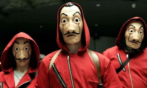 Los enmascarados de 'La casa de papel'.