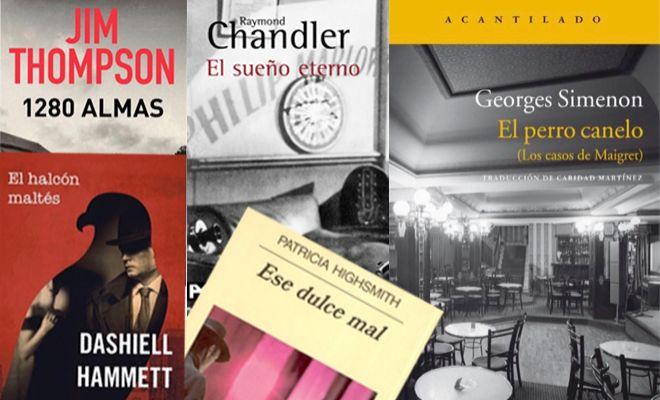 Algunos de los libros más conocidos de estos cinco novelistas clásicos.