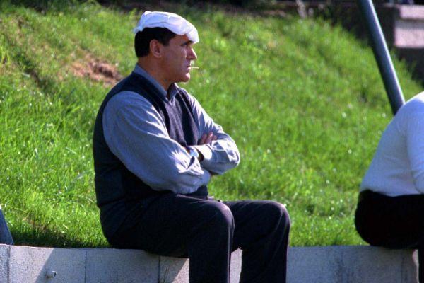 Caneda, durante un entrenamiento en 1999.