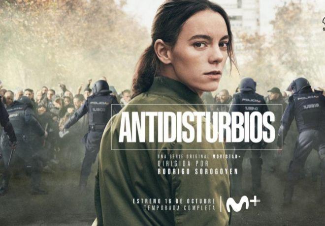 Cartel promocional de 'Antidisturbios' en Movistar+.