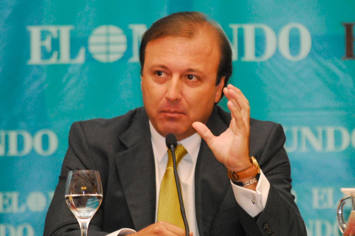 Joan Mesquida, el que fuera jefe de la Policía y la Guardia Civil, en un foro de EL MUNDO.