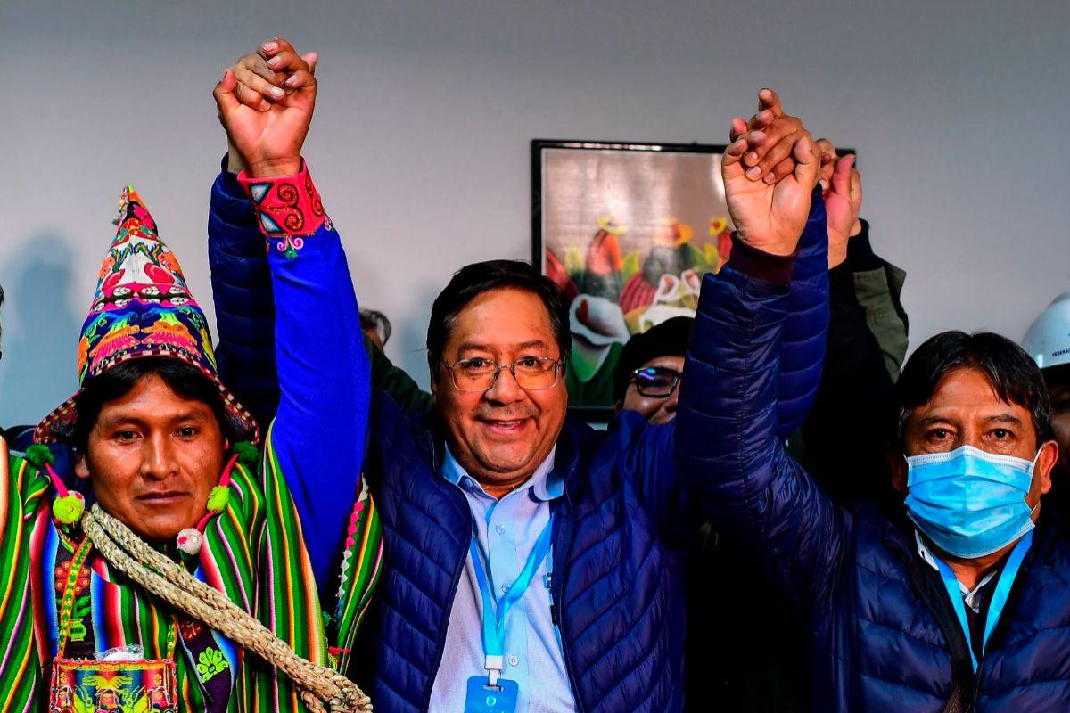 Luis Arce, ganador de las presidenciales de Bolivia.