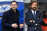 Frank Lampar (Chelsea) y Andrea Pirlo (Juventus).