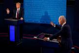 Trump y Biden durante el primer debate electoral.