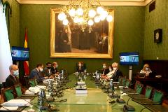 Reunión de la Mesa del Congreso presidida por la presidenta de la Cámara Meritxell Batet.