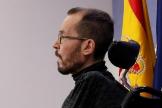 Pablo Echenique, en rueda de prensa en el Congreso de los Diputados.