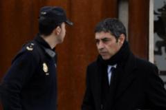 El mayor de los Mossos Josep Lluis Trapero a la salida de una sesión del juicio en la Audiencia Nacional.