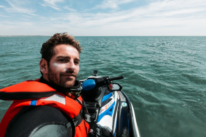 El rey de las motos de agua y su aventura de récord