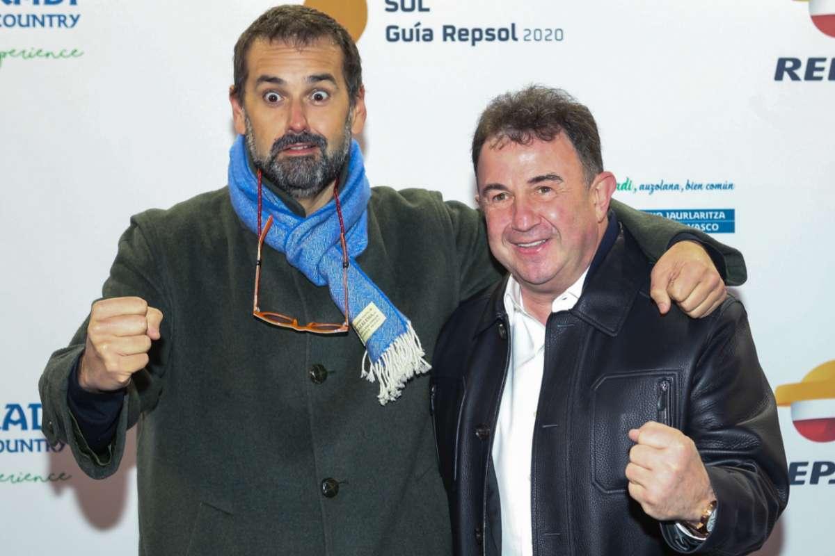 Con su socio y amigo, Martín Berasategui.