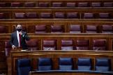 El presidente de Vox, Santiago Abascal, este miércoles, en el Congreso.