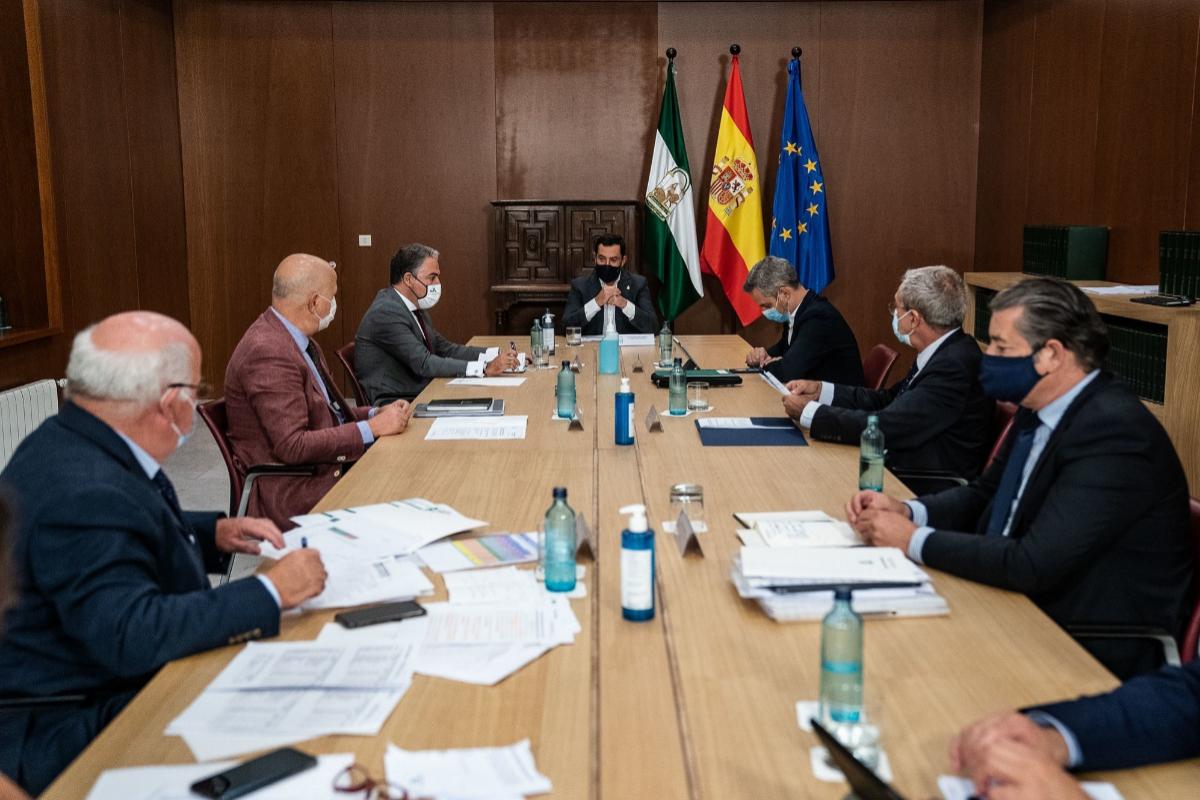 Moreno preside la reunión del Comité Director de Alertas, este miércoles.