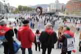 Un grupo de pensionistas se manifiesta esta semana en Bilbao exigiendo pensiones dignas.