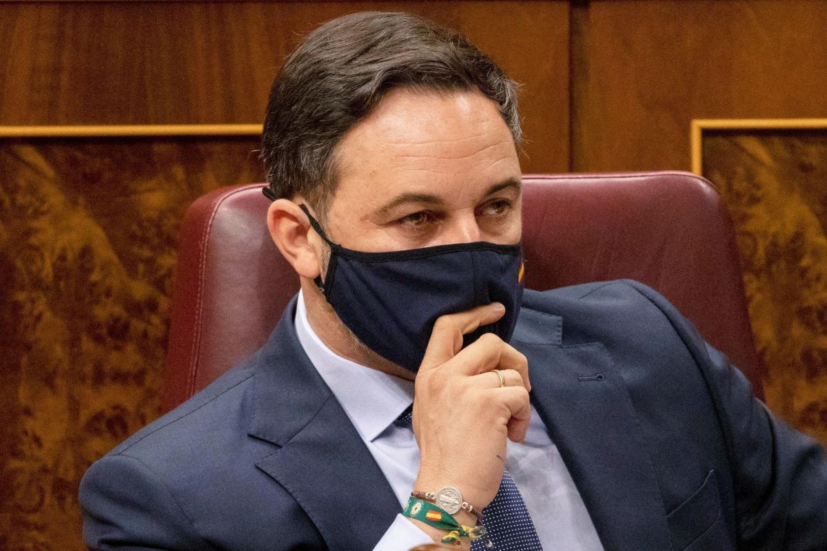 El presidente de Vox, Santiago Abascal, este jueves, en el Congreso.