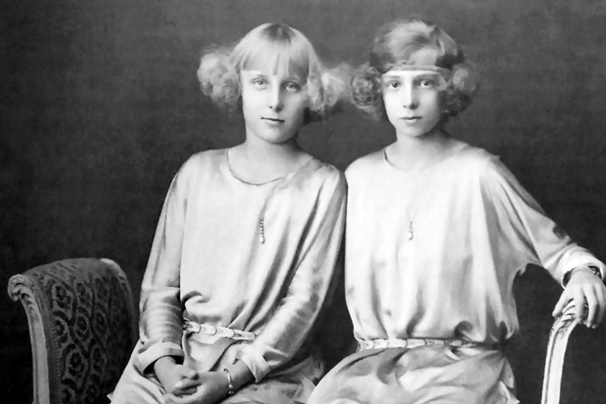 Las hijas de Alfonso XIII, de niñas.
