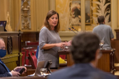 La presidenta Francina Armengol, ayer en el Parlament.