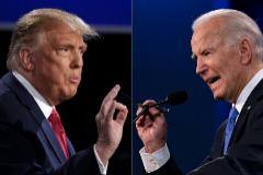 Donald Trump y Joe Biden durante el debate.