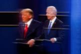 President lt;HIT gt;Trump lt;/HIT gt; and Democratic presidential nominee Biden participate in their second debate in Nashville