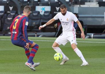 Ocasiones claras de Messi y Benzema
