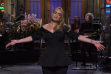 Adele, durante el programa Saturday Night Live.