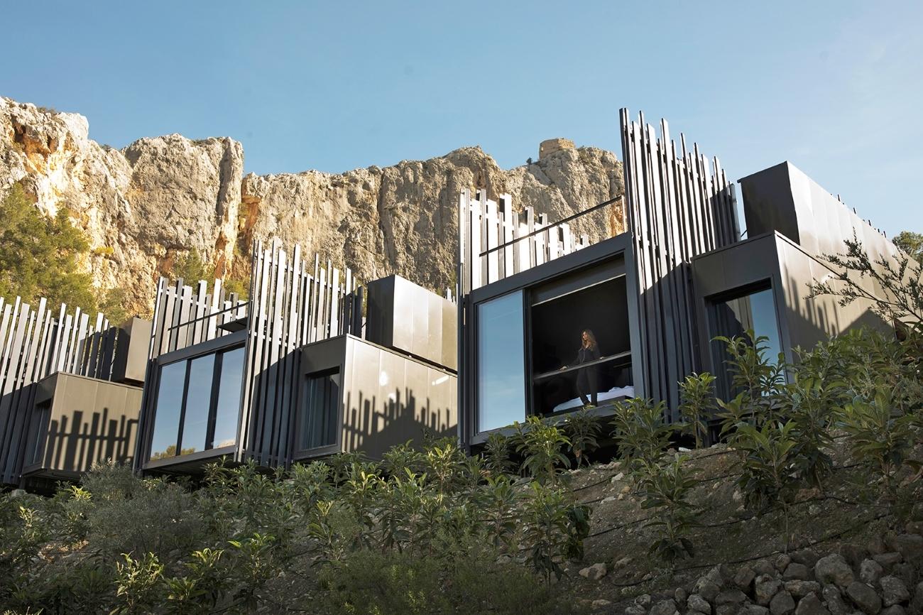 El hotel Vivood, en el valle de Guadalest.