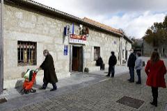 Cola para coger la lotería en Villalba.