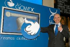 El ex presidente de Gowex, Jenaro García, en la salida a Bolsa de la empresa, en 2010.