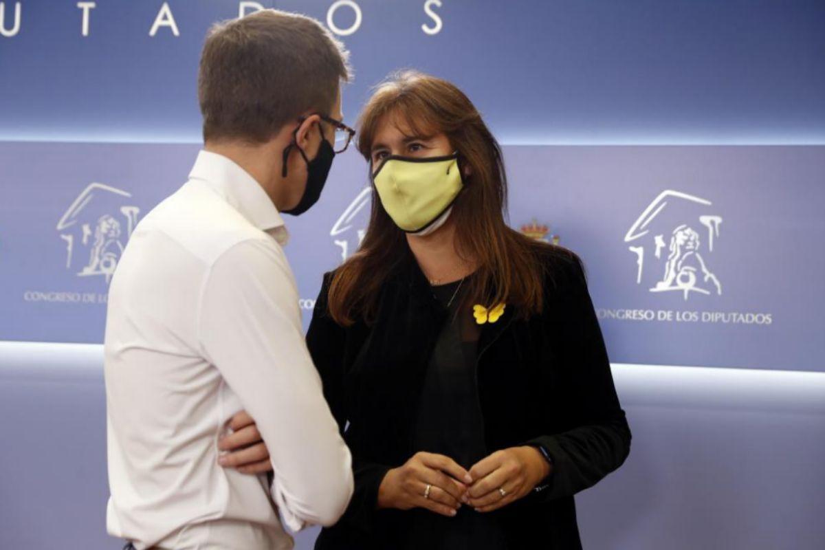 Íñigo Errejón y Laura Borràs, en el Congreso.