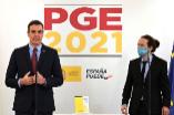 Pedro Sánchez y su socio de gobierno, Pablo iglesias