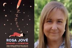 La psicóloga clínica Rosa Jové y la portada de su nuevo libro.