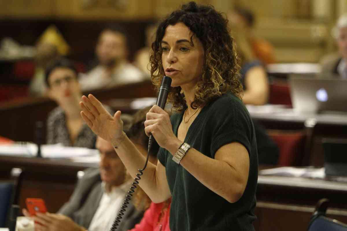 La consellera Rosario Sánchez, en el Parlament.