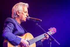 El cantautor, durante un concierto en Sevilla, en octubre del pasado año.