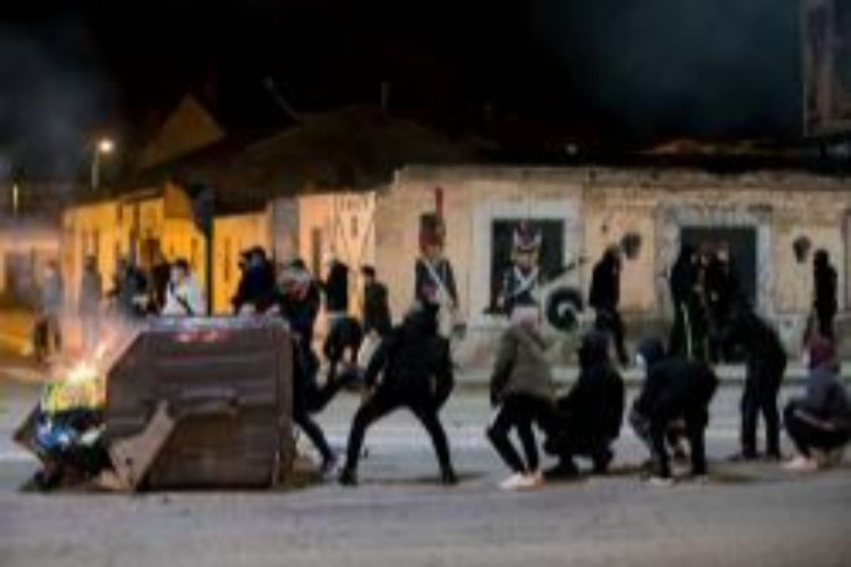 Disturbios en Burgos.