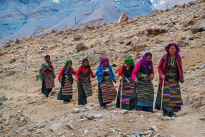 La población tibetana solía vivir a más de 5.000 metros de altura.