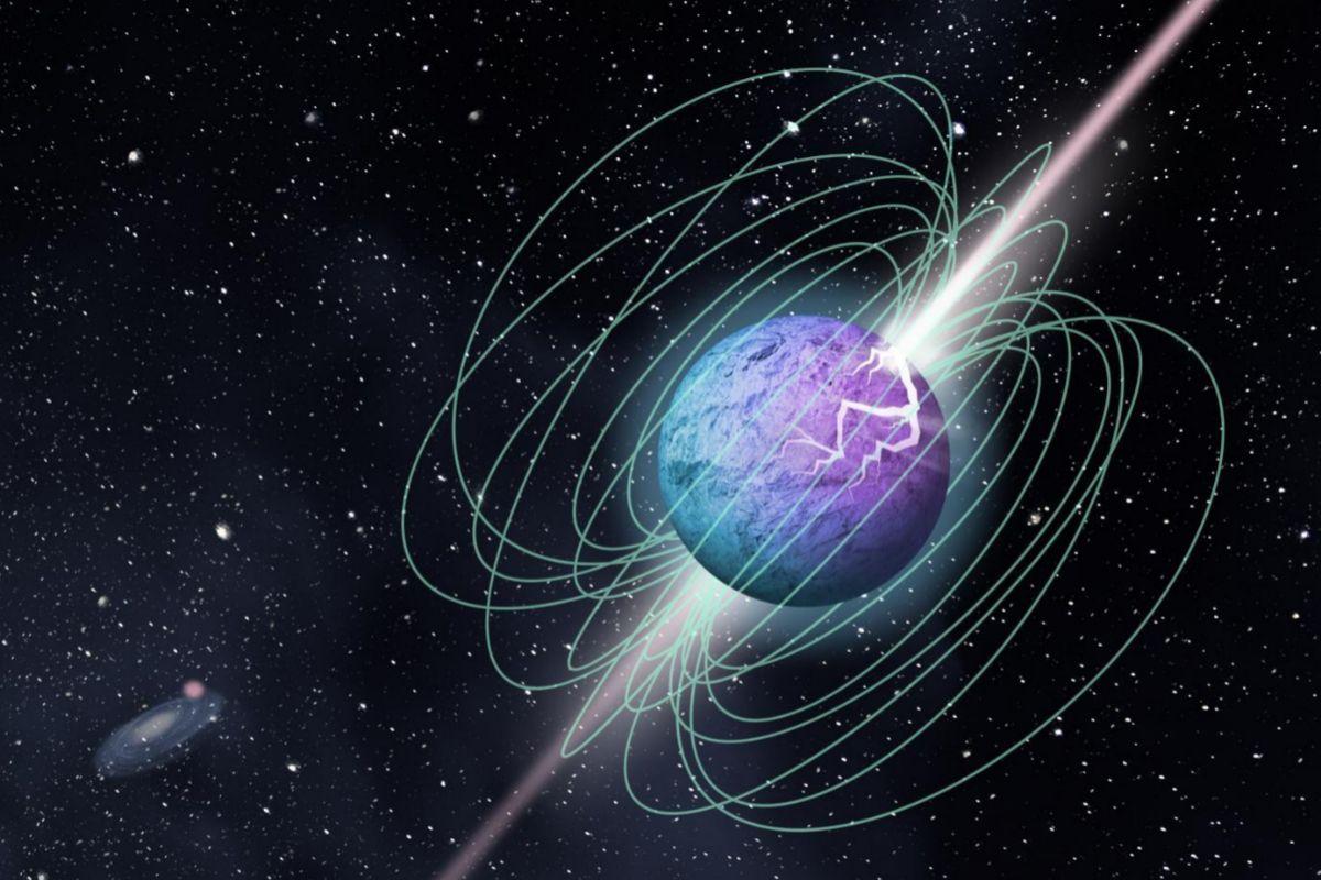 Recreación de un magnetar