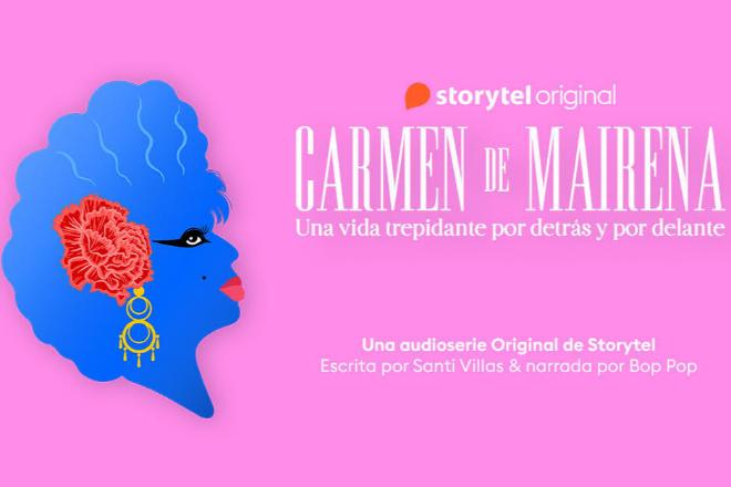 Poster de la audioserie dedicada a Carmen de Mairena.