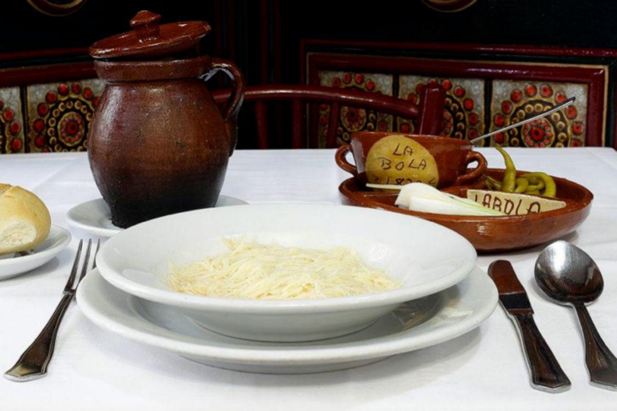 Sopa de cocido, de La Bola.