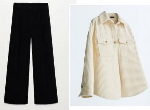 Pantalón de Mango y sobrecamisa de Massimo Dutti.