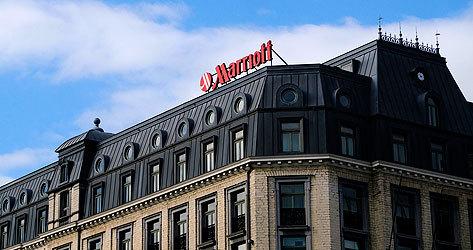 Fachada del hotel Marriott en Bruselas.