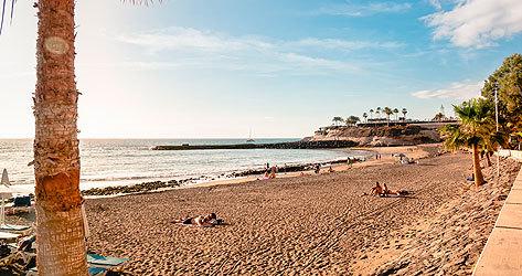 Playa de Tenerife durante la segunda ola.