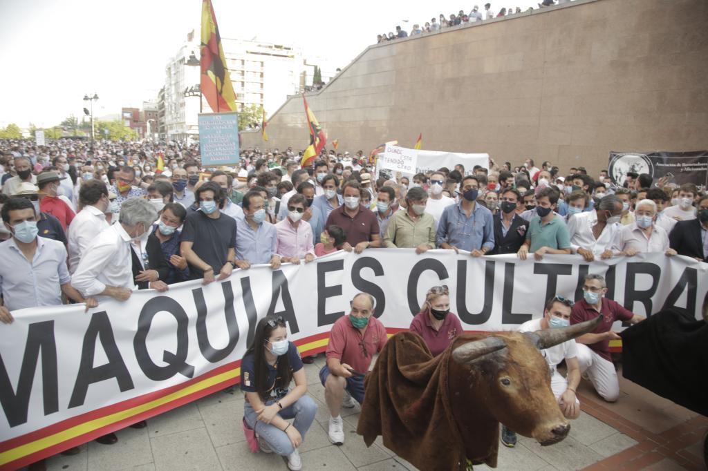 Manifestación taurina en Las Ventas