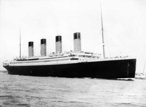 Foto antigua del 'Titanic' antes de hundirse.