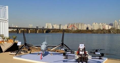 Presentación en Seúl de varios prototipos frente al río Han.