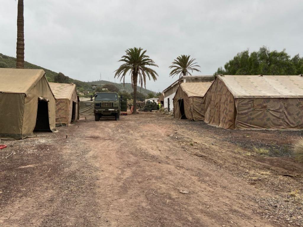 Instalaciones que está preparando el Ejército de Tierra para acoger inmigrantes.