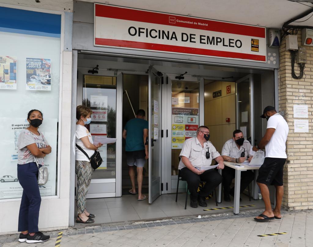 Oficina de empleo en la Comunidad de Madrid tras la reapertura del pasado verano.