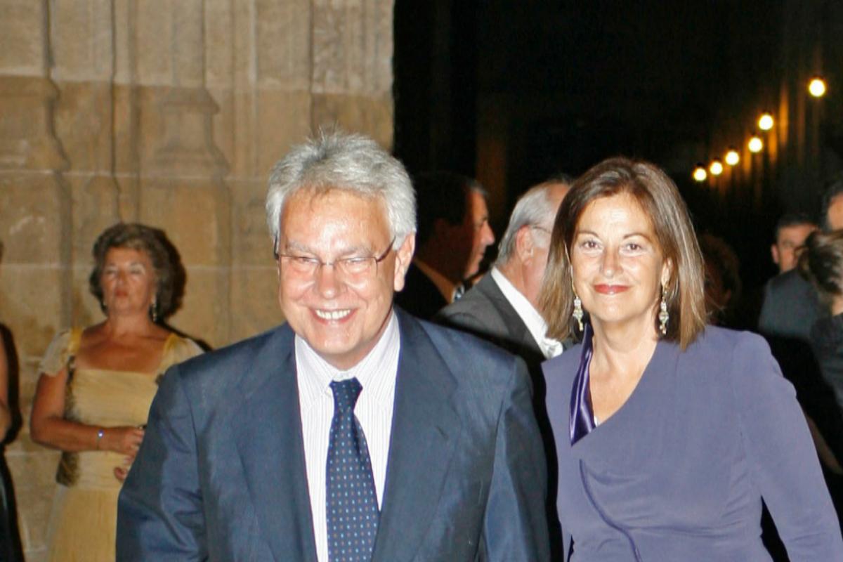 Felipe González y Carmen Romero, en Sevilla, en 2008.
