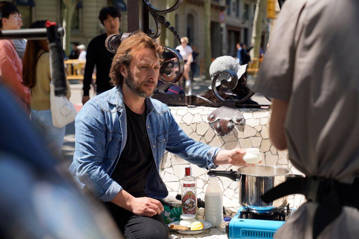 Gipsy Chef cocinando en la calle.