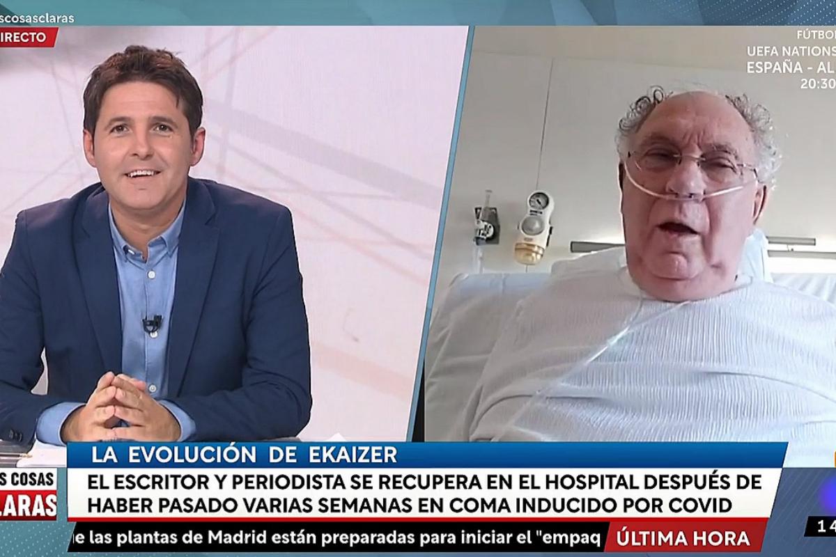 Ernesto Ekaizer, interviene desde el hospital en 'Las cosas claras'.