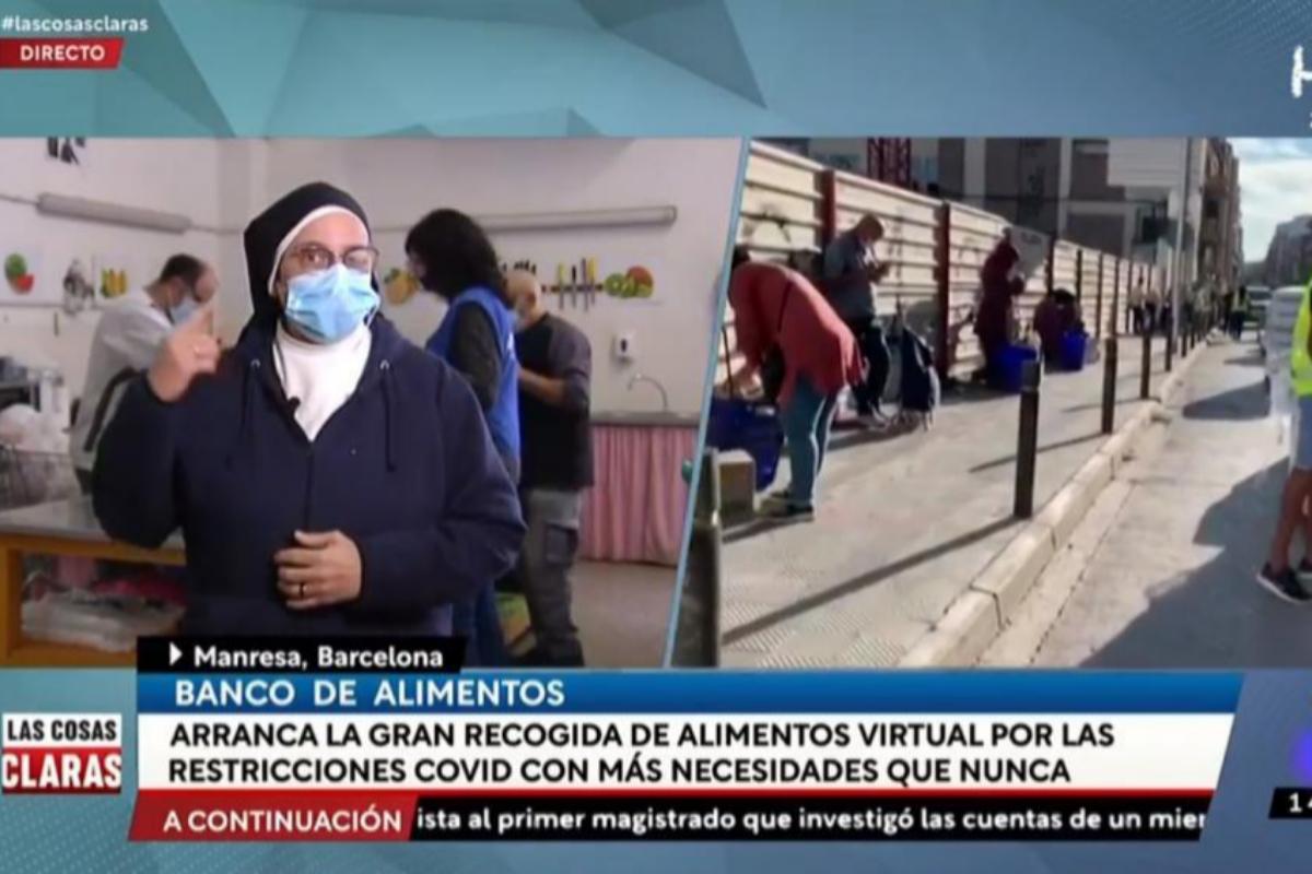 Sor Lucía Caram, en conexión en directo con 'Las cosas claras'.